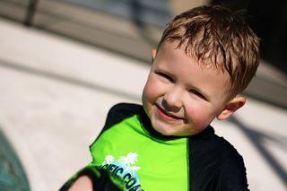 Ethan at pool