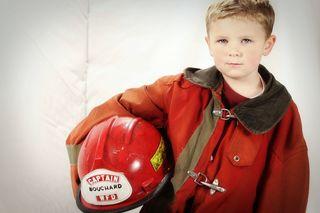 Ethan holding helmet 2